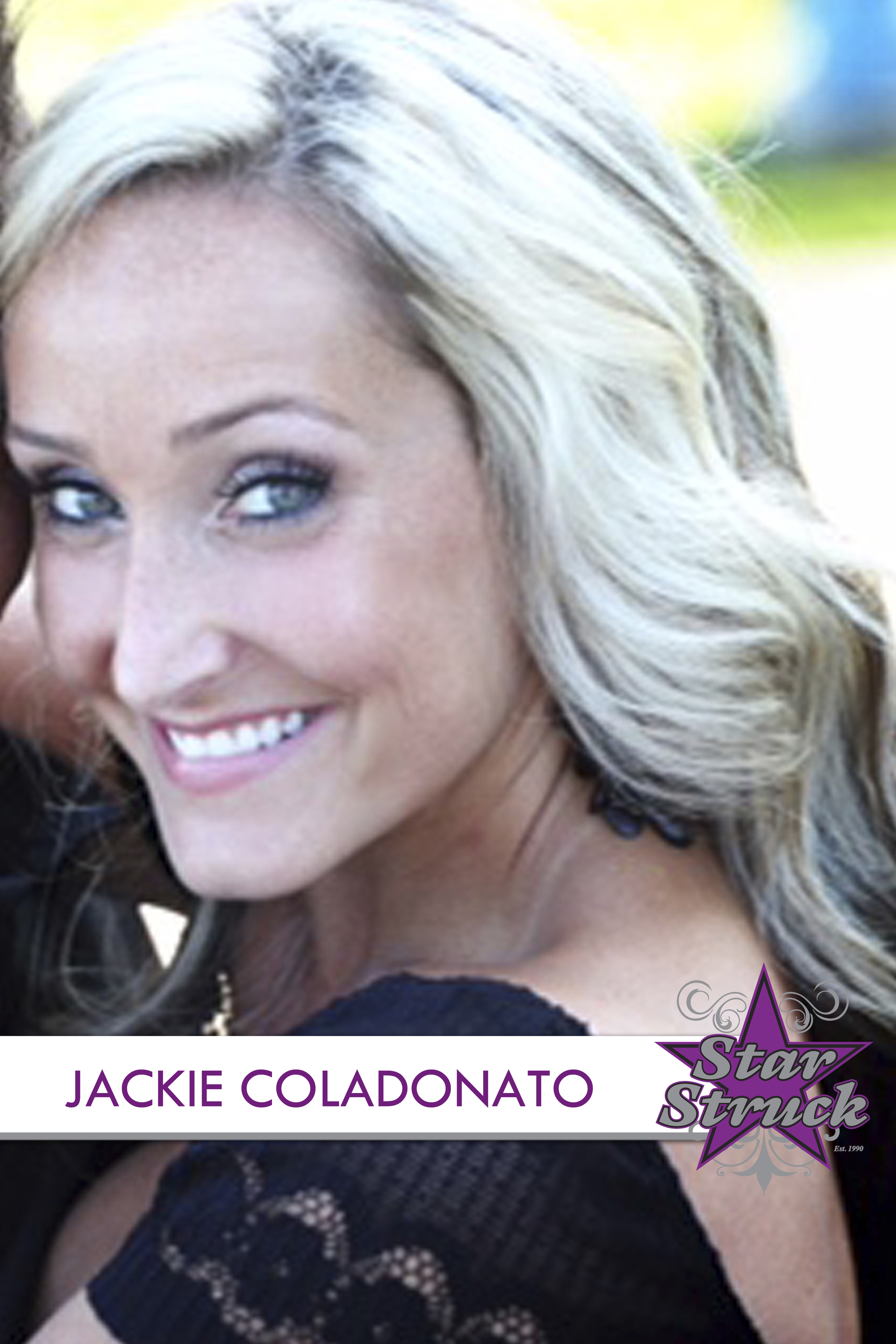 """JACKIE COLADONATO   Jackie Coladonato began her dance training when she was nine years old here at Star Struck Dance Studio. At the age of 17, she traveled with the Starpower Power Pak to Branson Missouri and Las Vegas Nevada and even performed with MC Hammer. Jackie soon wanted to take her shot at dancing professionally and auditioned for an NBA dance team. In 2006, she was hired by the New Jersey Nets as a Nets Dancer. She danced with them for four amazing seasons making unforgettable memories and forever friends. While on the Nets, Jackie learned from and trained under many notable names in the dance industry such as Luam, Jermaine Brown and Adar Wellington. Jackie also had the opportunity to travel with the Nets to Mexico City Mexico and London England where she danced, made appearances and promoted the NBA. Although she has retired in her professional career, Jackie has since married in 2012 and had a beautiful little girl in 2013. Jackie enjoys teaching and sharing the art of dance with all of her students here at star struck. """"It takes an athlete to dance, but an artist to be a dancer"""""""
