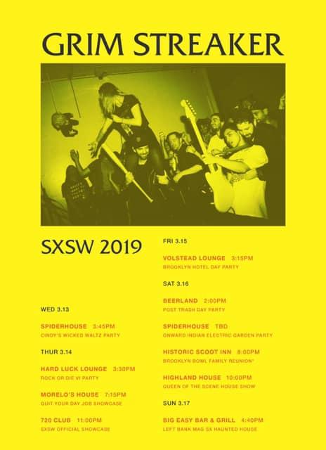 Grim Streaker SXSW Schedule