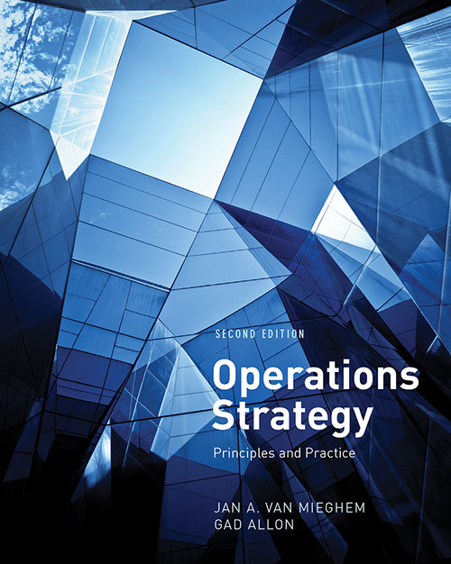 Operations Strategy Book Cover Art Direction: Ciano Design