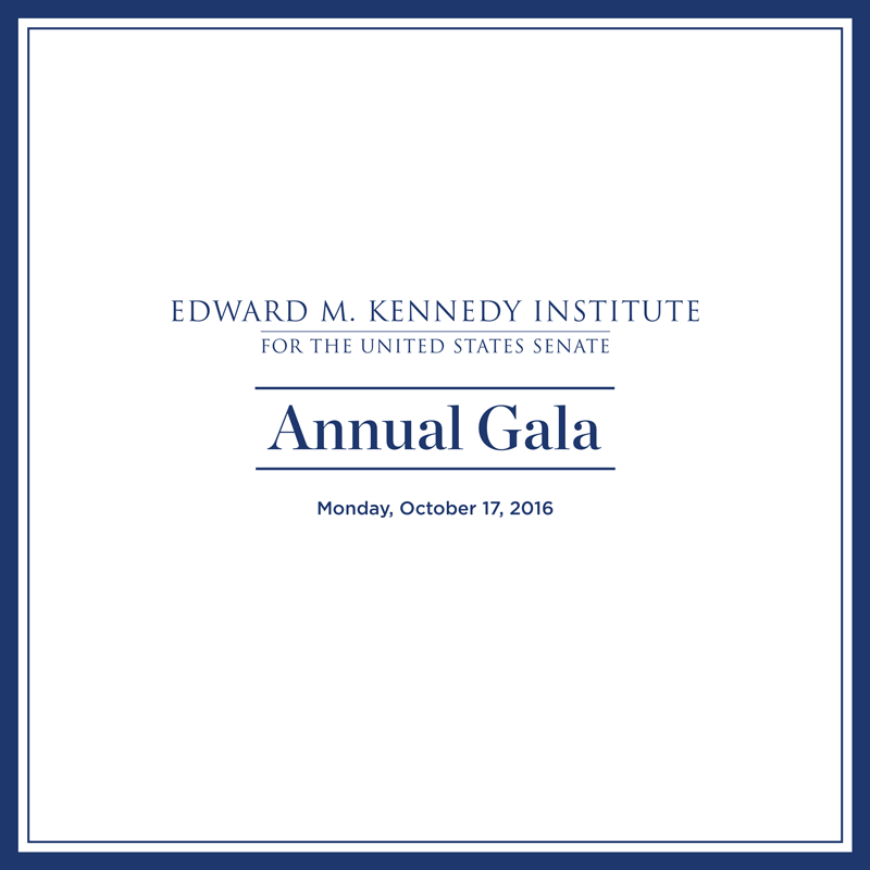 Edward M. Kennedy Institute Annual Gala Program Art Direction: Grossman Marketing
