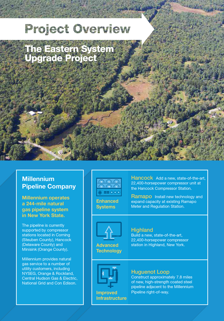 Millenium Pipeline Brochure Cover Art Direction: Grossman Marketing