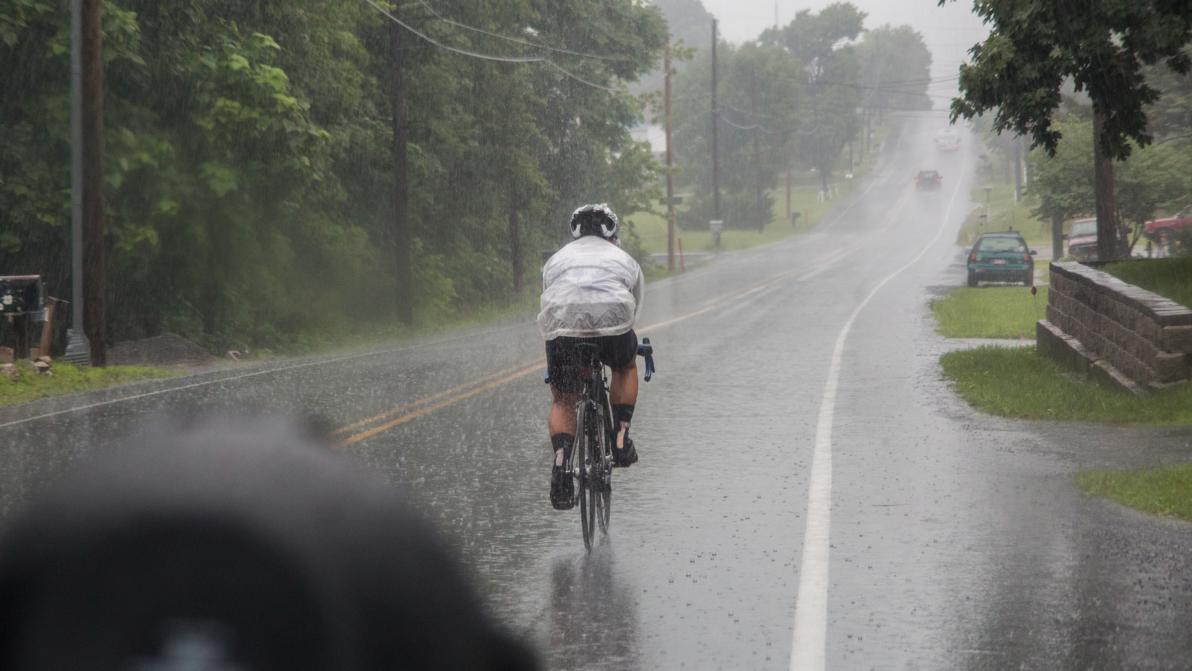 When it rains on the East Coast it pours--literally. Matt was saturated for the last 48 hours of RAAM.