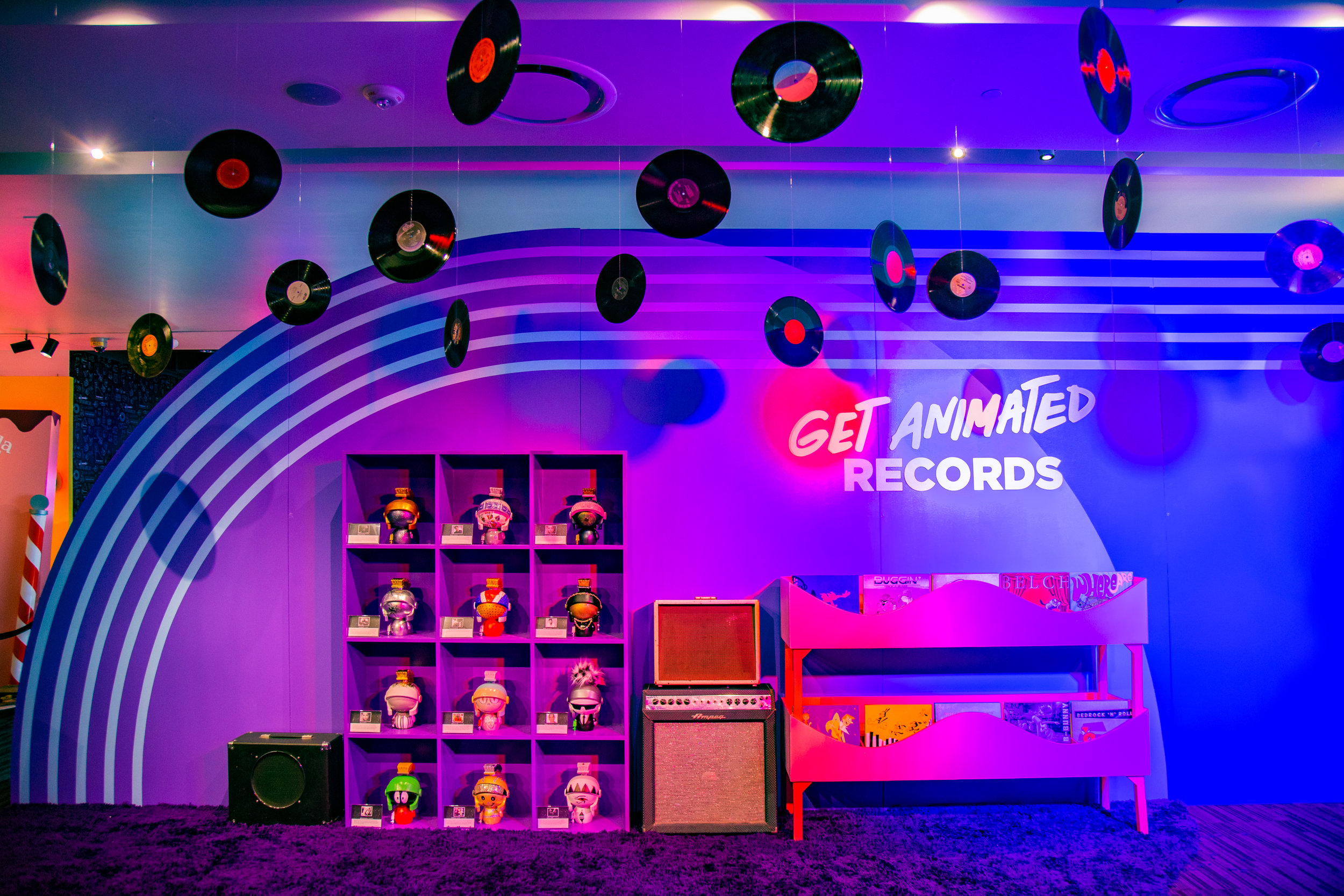 Senior Art Direction of The Get Animated Invasion Grammy Museum pop-up - Client: Warner Bros.