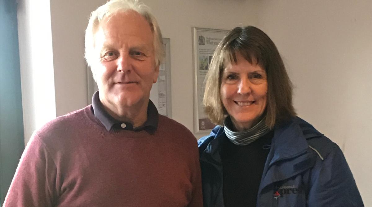 Ian Hallwood Vet Winner (97/100) & Susan Hallwood Ladies Winner (74/100) 29th October 2017