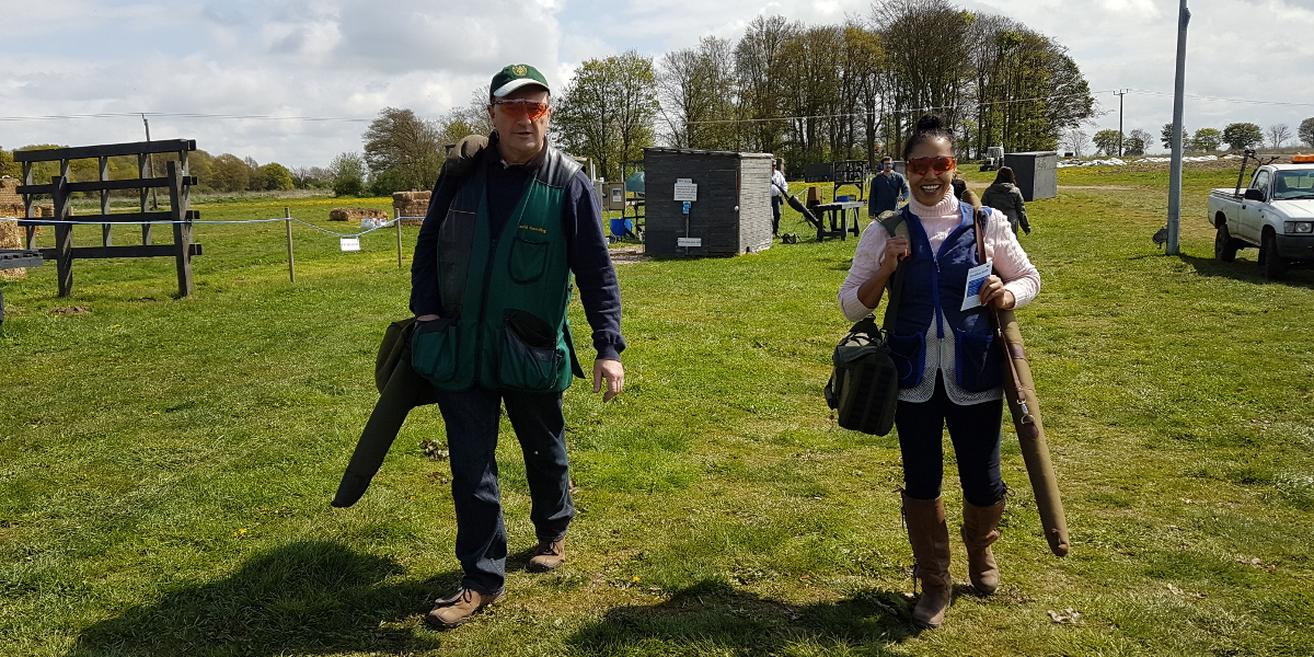 Happy shooters return from taking their turn at a CPSA event