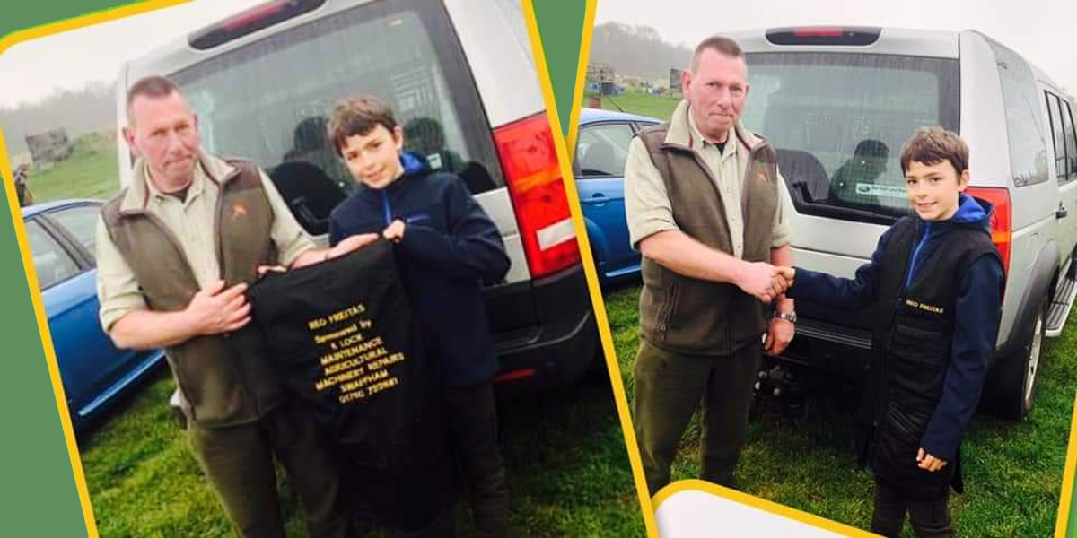 12 yr old Reo Freitas gets sponsored by K Lock Maintenance Agricultural Machinery Repairs - photo courtesy Kay S Whiteside