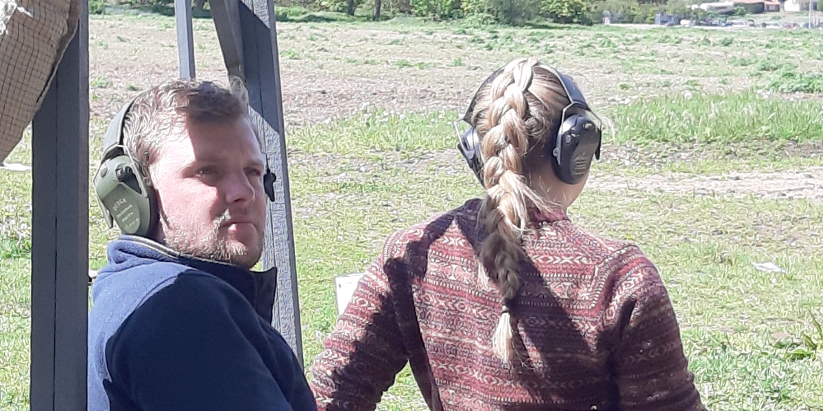 Great to See the Young People Get Out Shooting at Chalk Farm Clayground - photo by Stella Gooch
