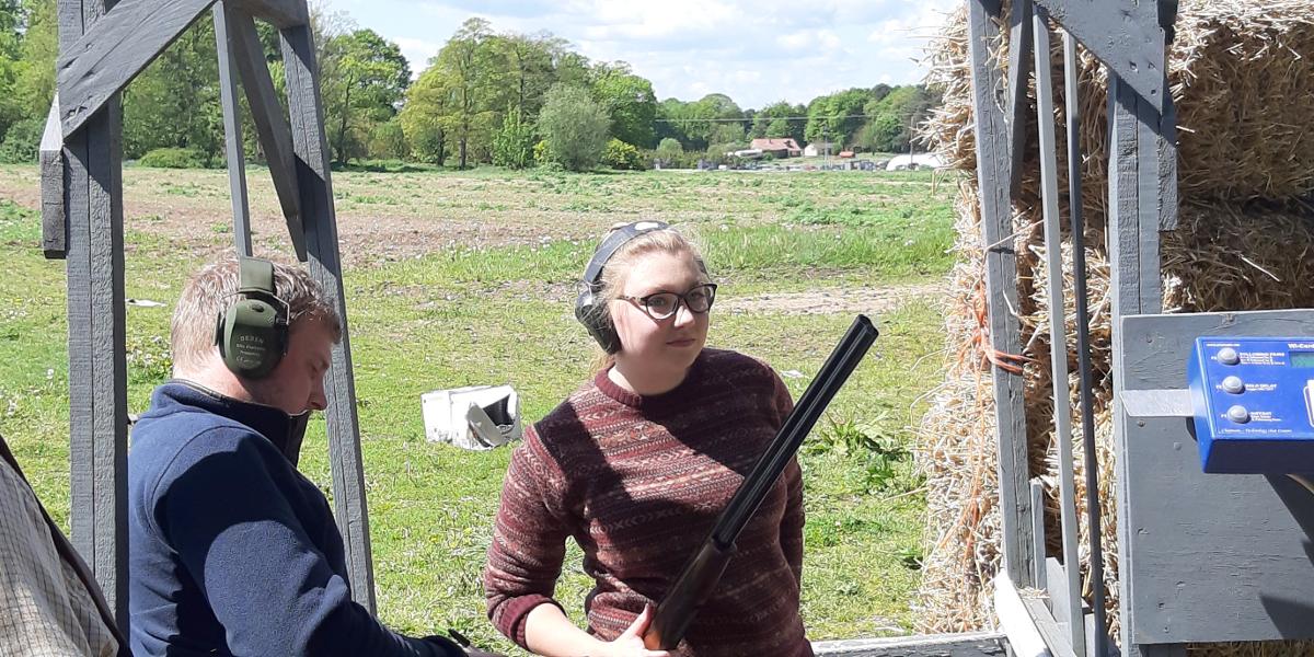Ladies Also Enjoy Clay Shooting at Chalk Farm - photo by Stella Gooch