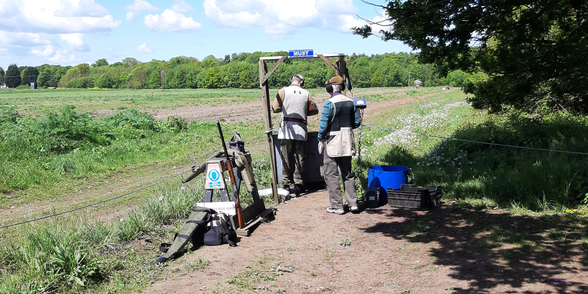 All set up for an enjoyable clay shoot - photo by Stella Gooch