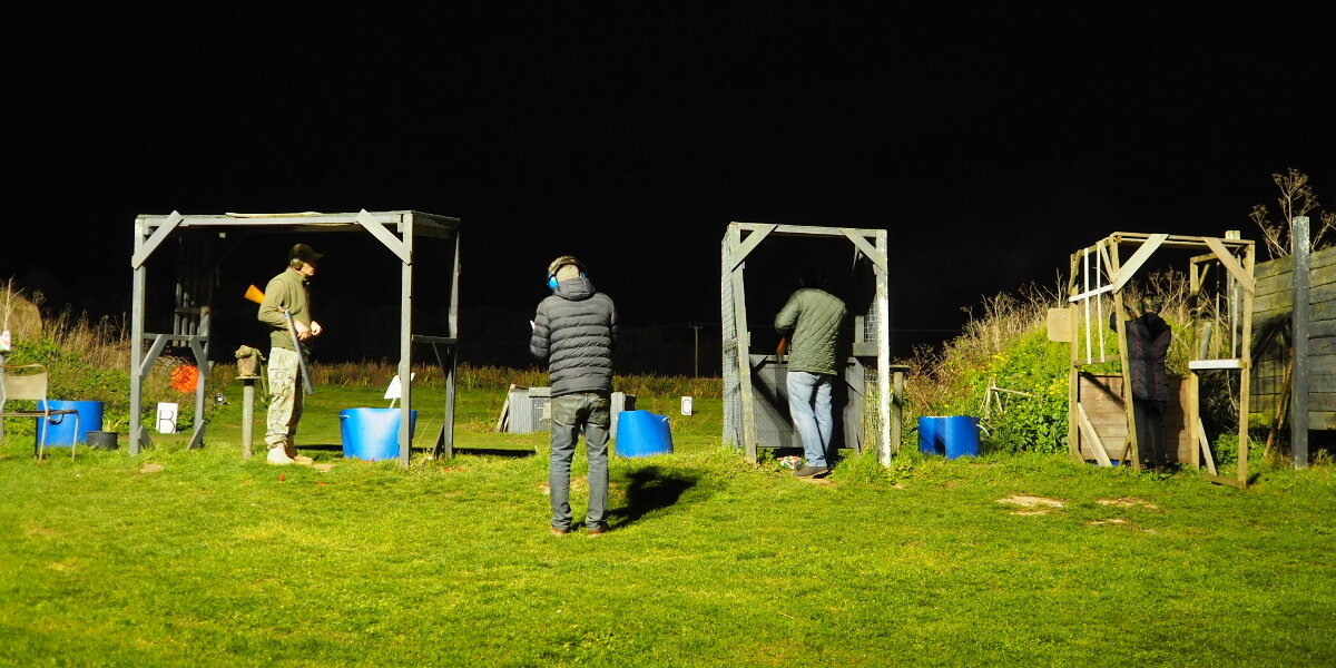 Clay Shooting by Floodlight as Nights Draw In - photo by Eileen Howling
