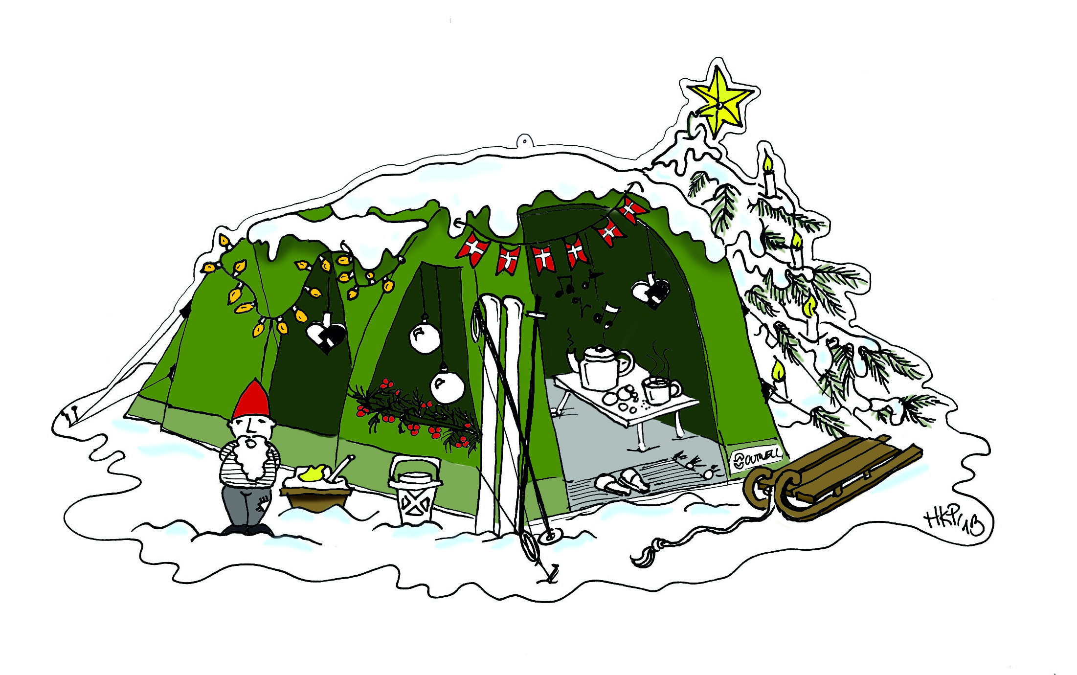 Christmas in the tent