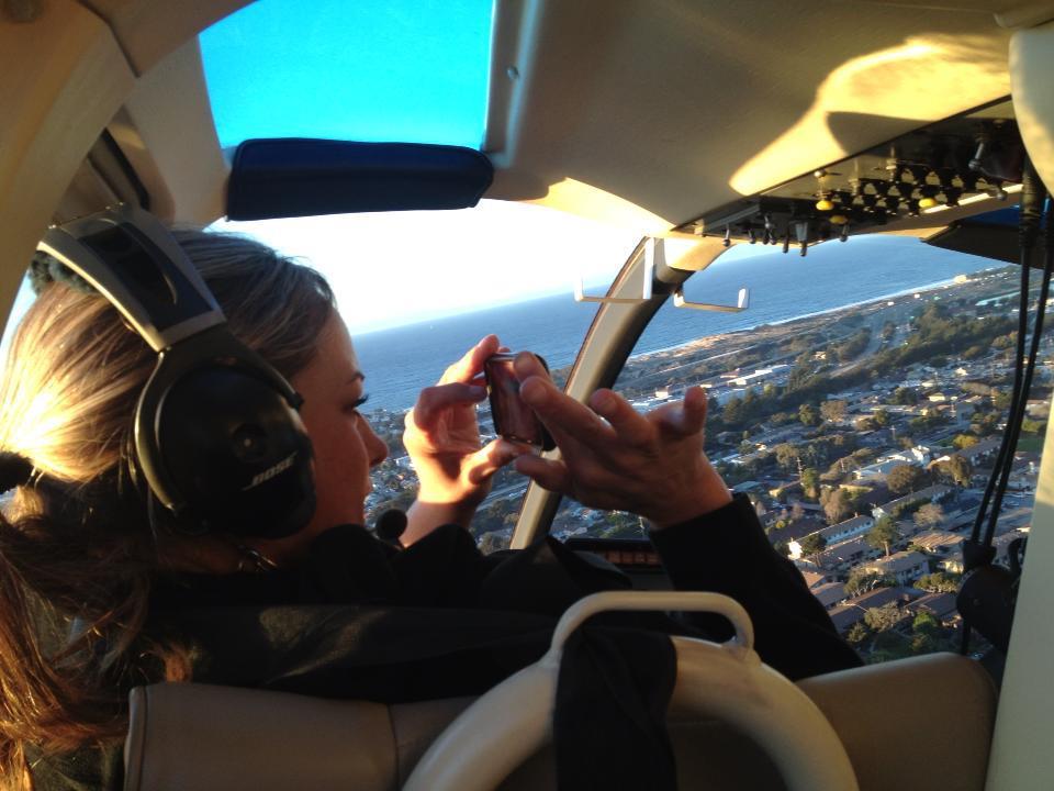 Helicopter over Santa Cruz