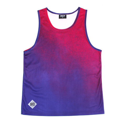 Daniel Ting Chong   x 2 Bop 10 Years collab Vest in  Purple gradient- R450