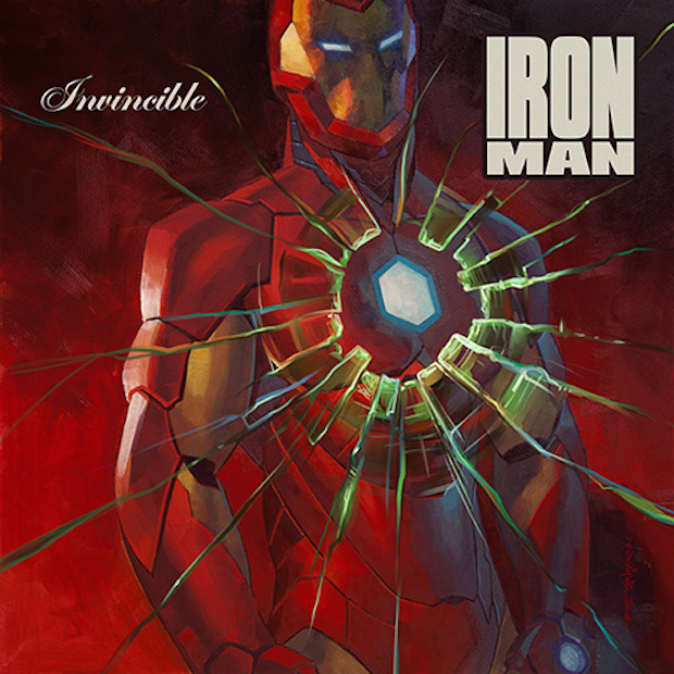 Invincible Iron Man  #1 artwork by Brian Stelfreeze (50's  Get Rich O r Die Tryin )