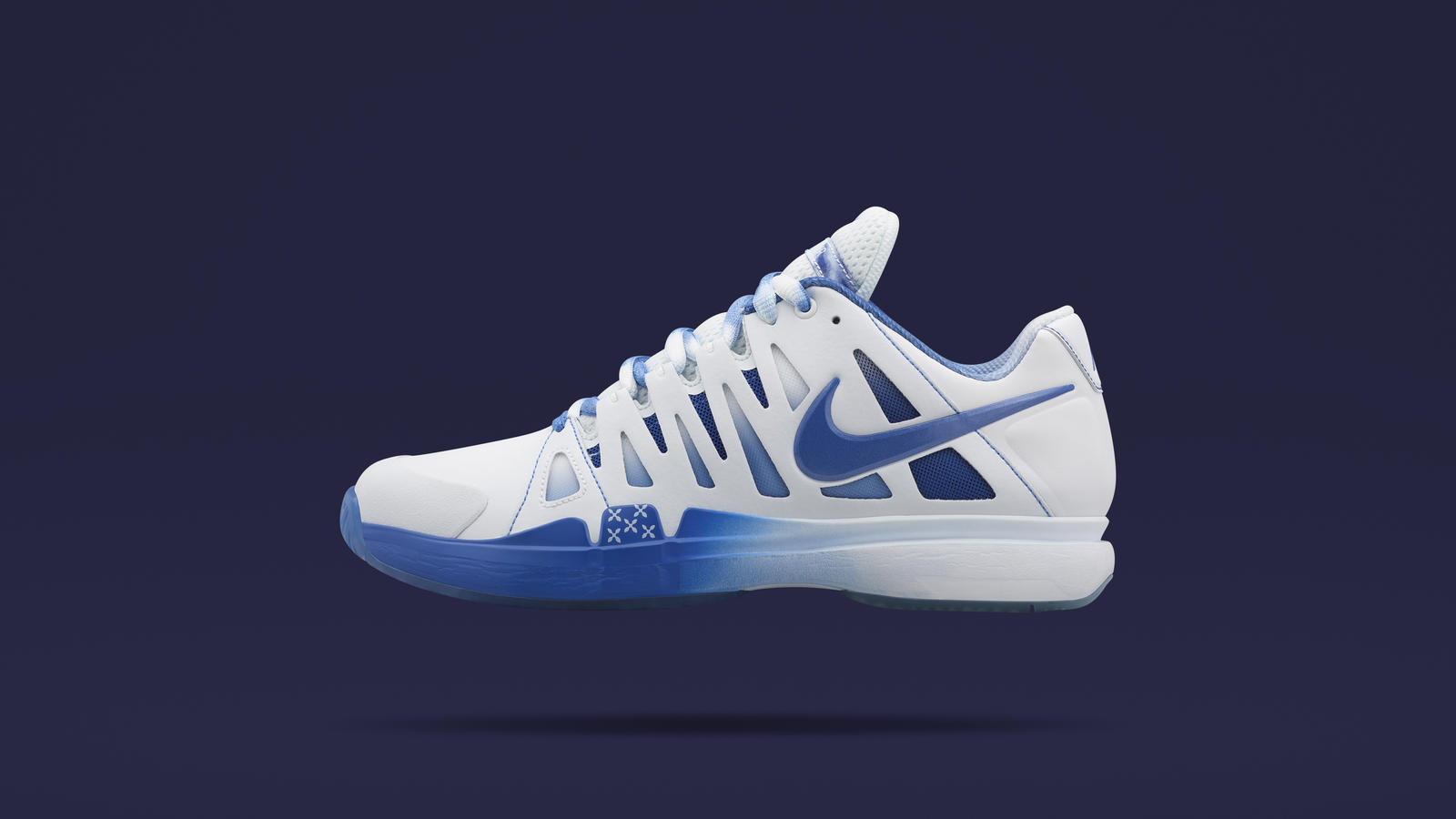NikeCourt Zoom Vapor 9 Tour x colette  To equip Sharapova for another run at history, NikeLab and colette have teamed up to reinterpret the NikeCourt Zoom Vapor 9 Tour. Detailed in colette's signature blue colours and iconic dots, the women's performance tennis shoe features a number of subtle design nods to Sharapova.