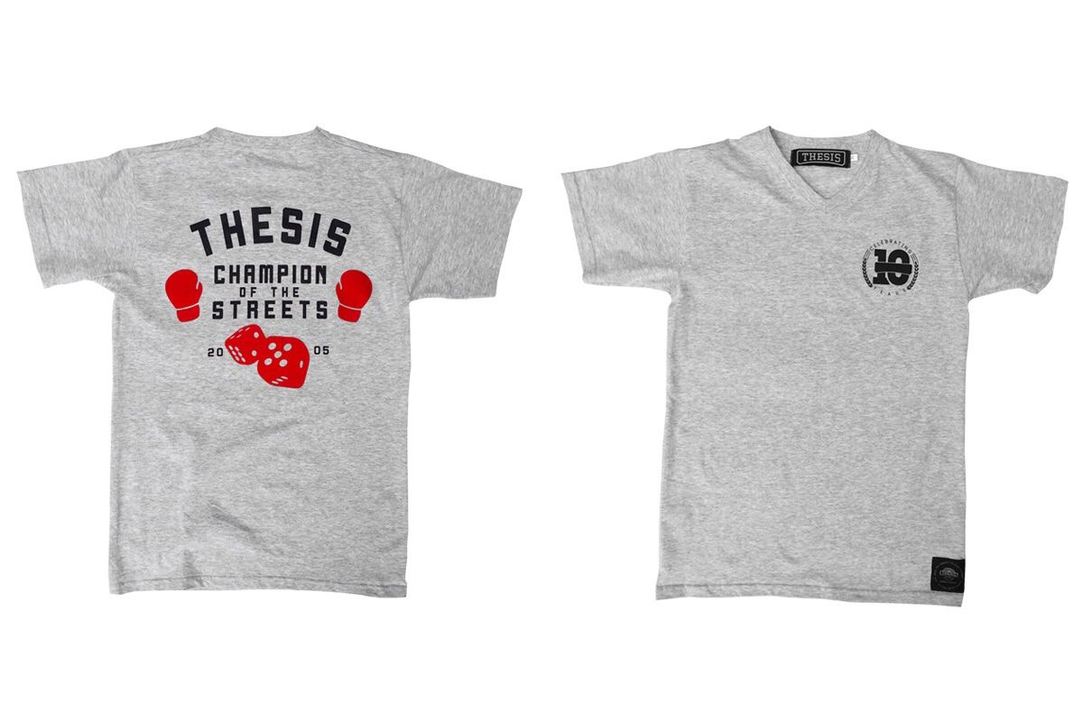 The design at the back of the was or is an inspiration from Undefeated. we just added the dice as they are part of the Thesis brand. For obvious reasons like the brand being placed in Soweto and dice games are often played at the corners of every kasi here and there.