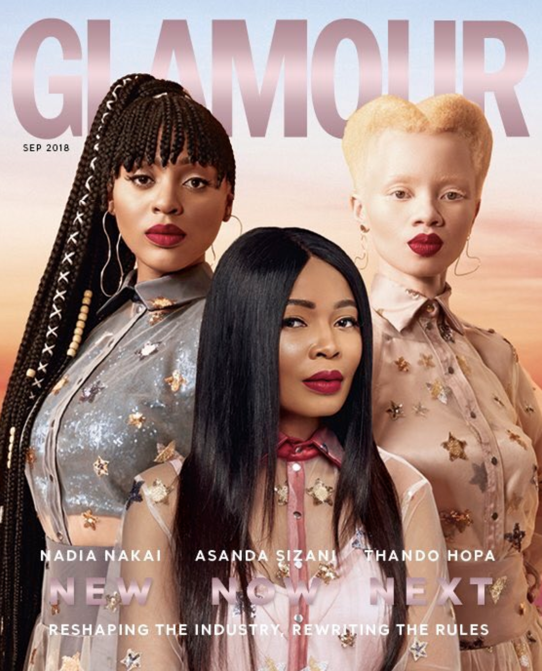 2018 Glamour Magazine  re-launch Cover