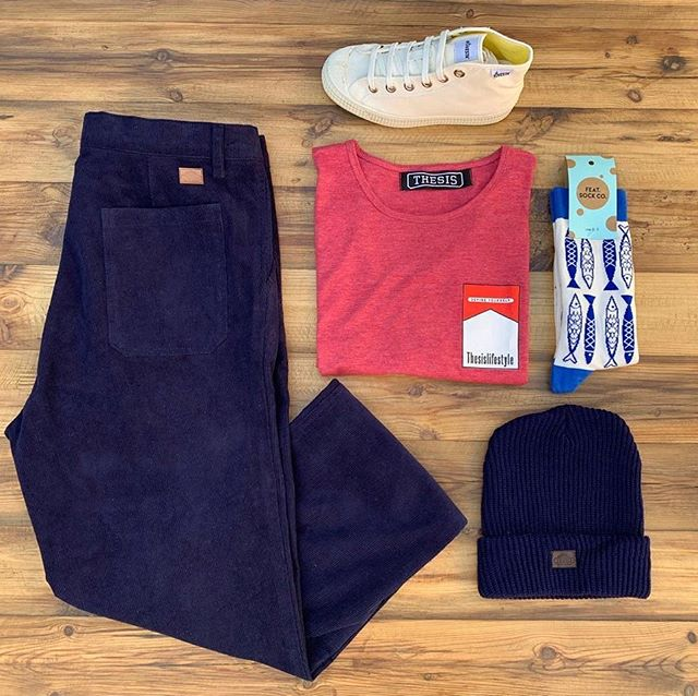 Communicating Combos - corduroy pants // R800, Marlboro tee // R200, Beanie // R100, @novesta_southafrica shoe // R1 500 & @featsockco // R180 #thesislifestyle #soweto #defineyourself