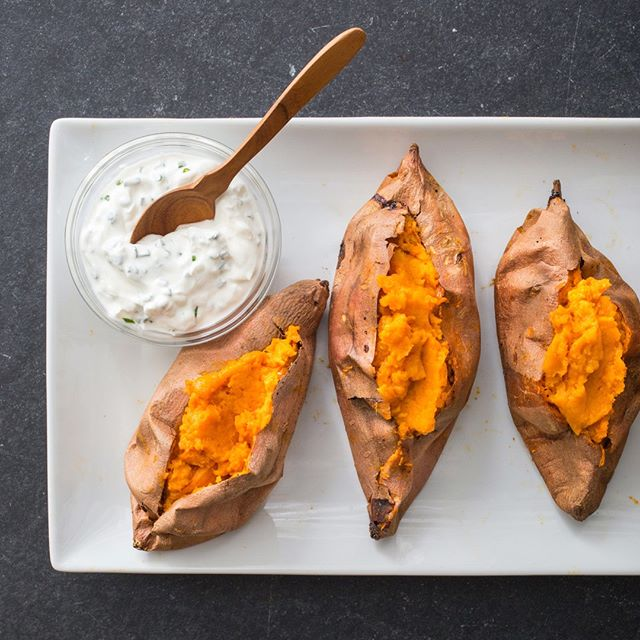 Get four sweet potatoes for $1 all month long! Don't miss out on this SWEET offer. If you tried our sweet potatoes, let us know how you enjoyed them! 😋🍴 #goodfoodbyme