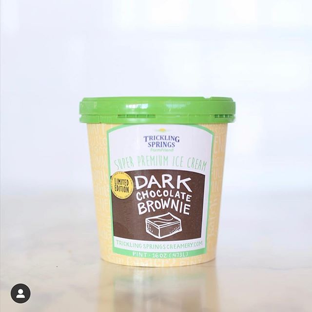 Our friends over at @trickling_springs_creamery are always coming up with new and exciting flavors, but we love a good classic at Good Food! This month, all GFM customers can enjoy 20% off Trickling Springs FarmFriend ice cream pints. What flavor will you be picking up? 📸 : @trickling_springs_creamery