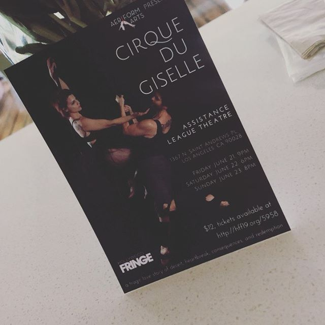 I'm performing in @cirquedugiselle 🧚🏻‍♀️ next weekend for the Hollywood Fringe Festival June 21st 9pm,22nd 6pm,23rd 8pm here's a sneak preview from rehearsals! There's, dance,aerial, acrobatics, stilts and a killer storyline. Hope to see you there!  Location is 1367 N.St Andrews Place 1hour show and there's a BAR 🍻🥂🍷. ✨ #hff19 #aeriformarts #cirquedugiselle #aerialtheatre #hollywoodfringefestival #giselleballet #aerialsilks #aerialhammocks #statictrapeze #stiltwalkers #ballet #circus #janeosborn