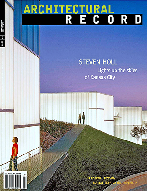 Architectural Record  July 2007  Sonoma Vineyard Barn
