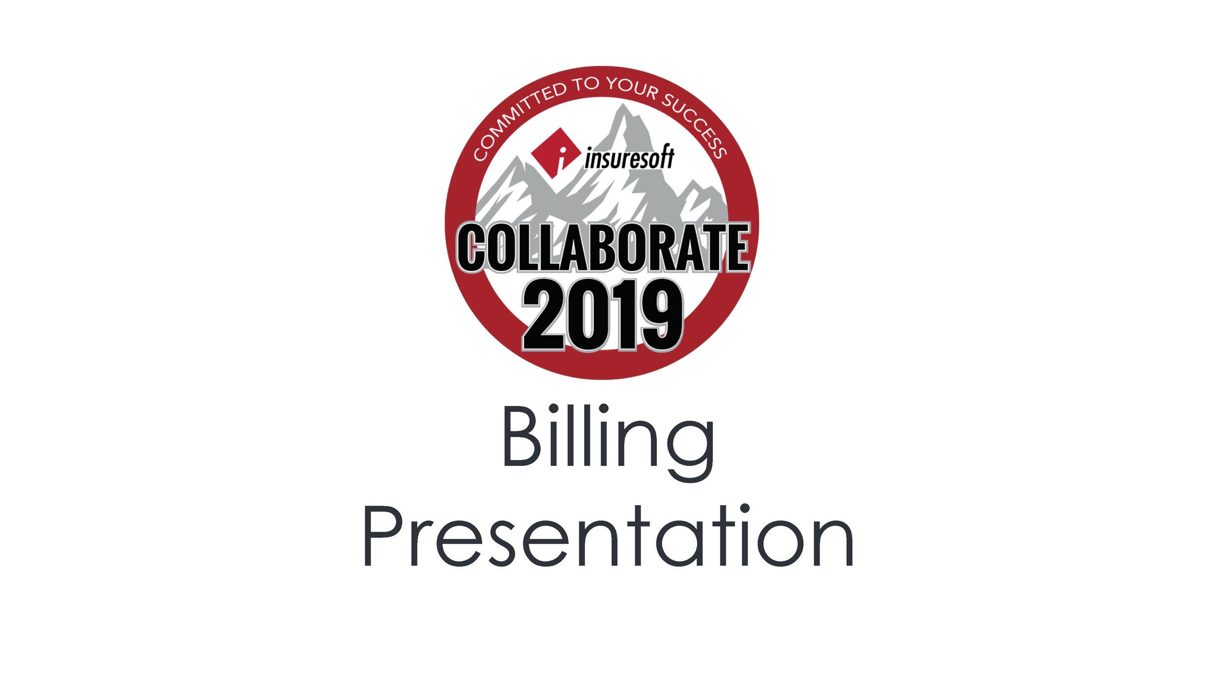 Billing Presentation & Roundtable
