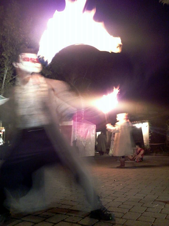 Freaky Fire Dancer Shot. Sedona, Day of The Dead celebration. Sedonwonder.com
