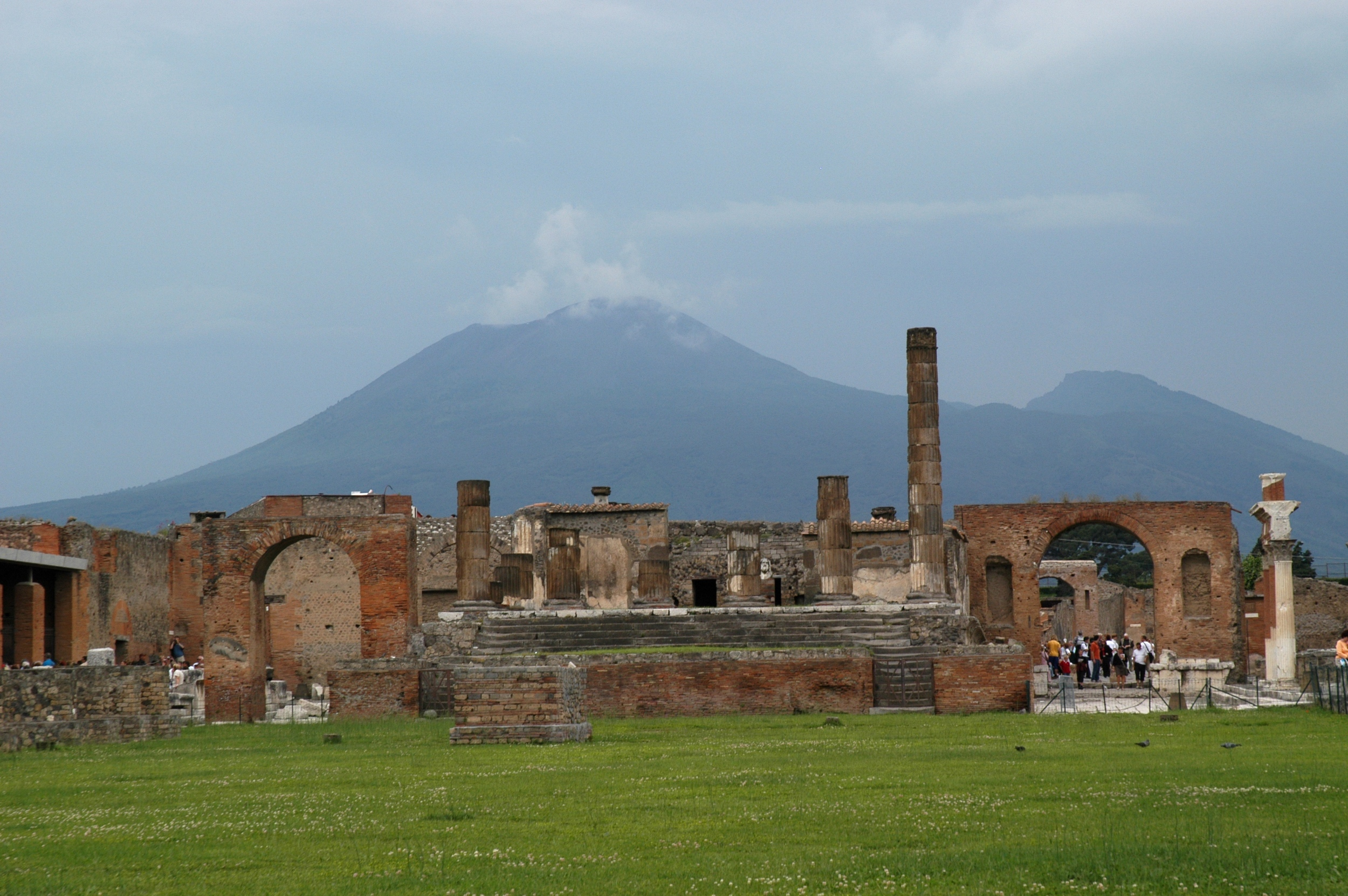 Pompeii - In 79 A.D., Mount Vesuvius erupted and buried the ancient city of Pompeii for hundreds of years. A half-day private guided tour of the preserved frescoes, baths, bakeries, and houses of ill repute explains this built by prosperous Romans centuries ago archeological site.