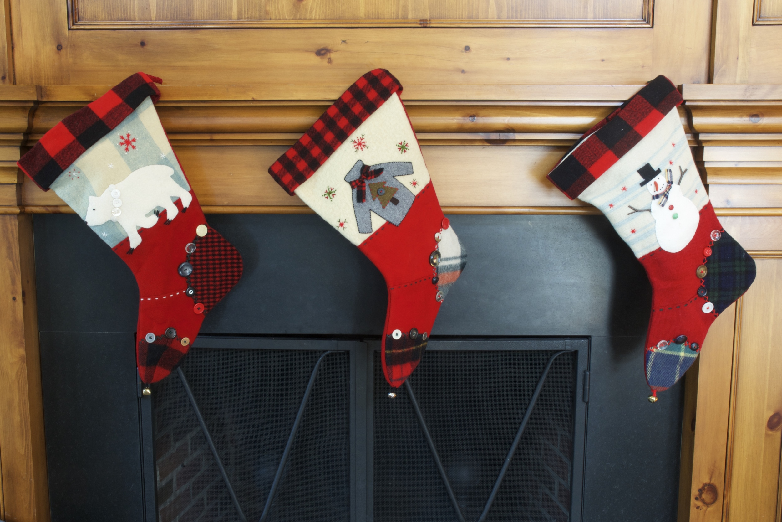 Oversized Hand Made Wool & Felt Stockings-$100 each