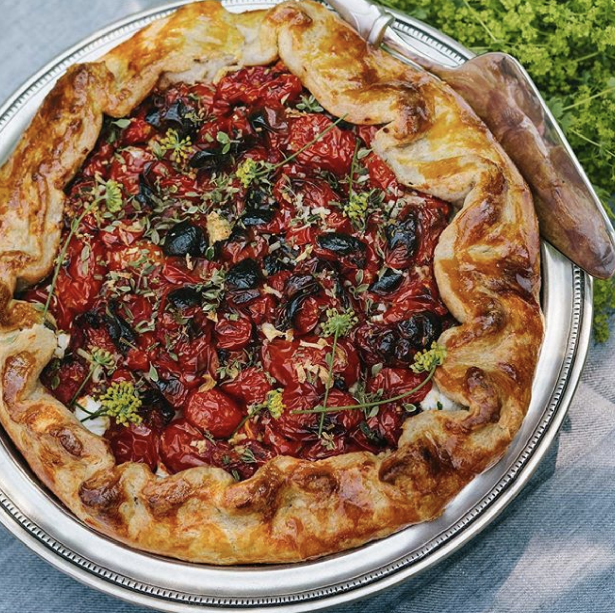 Weston Table Tomato Galette with Goat Cheese & Garden Herbs