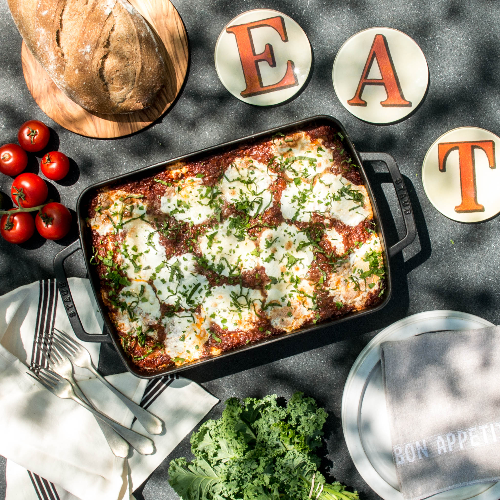 - This is the spoil your taste buds silly lasagna, with rich complex flavor that comes straight from mamma's kitchen.