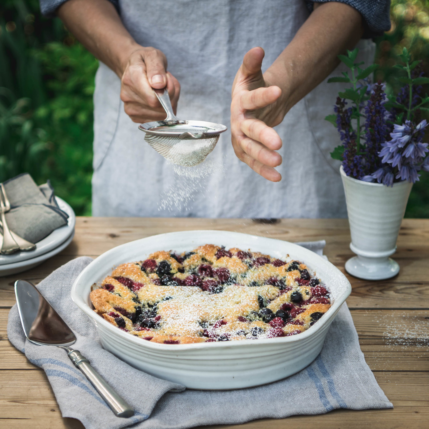 - Often served alongside late afternoon Sunday suppers with whatever fruit finds its way from berry patches, brambles, and orchards.Leftover pieces are most welcome the next morning for breakfast with unsweetened cream whipped straight from the udder.