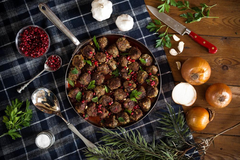 Moroccan Lamb Meatballs with Pomegranate Seeds - Since Ingrid Bergman walked into Humphrey Bogart's Moroccan