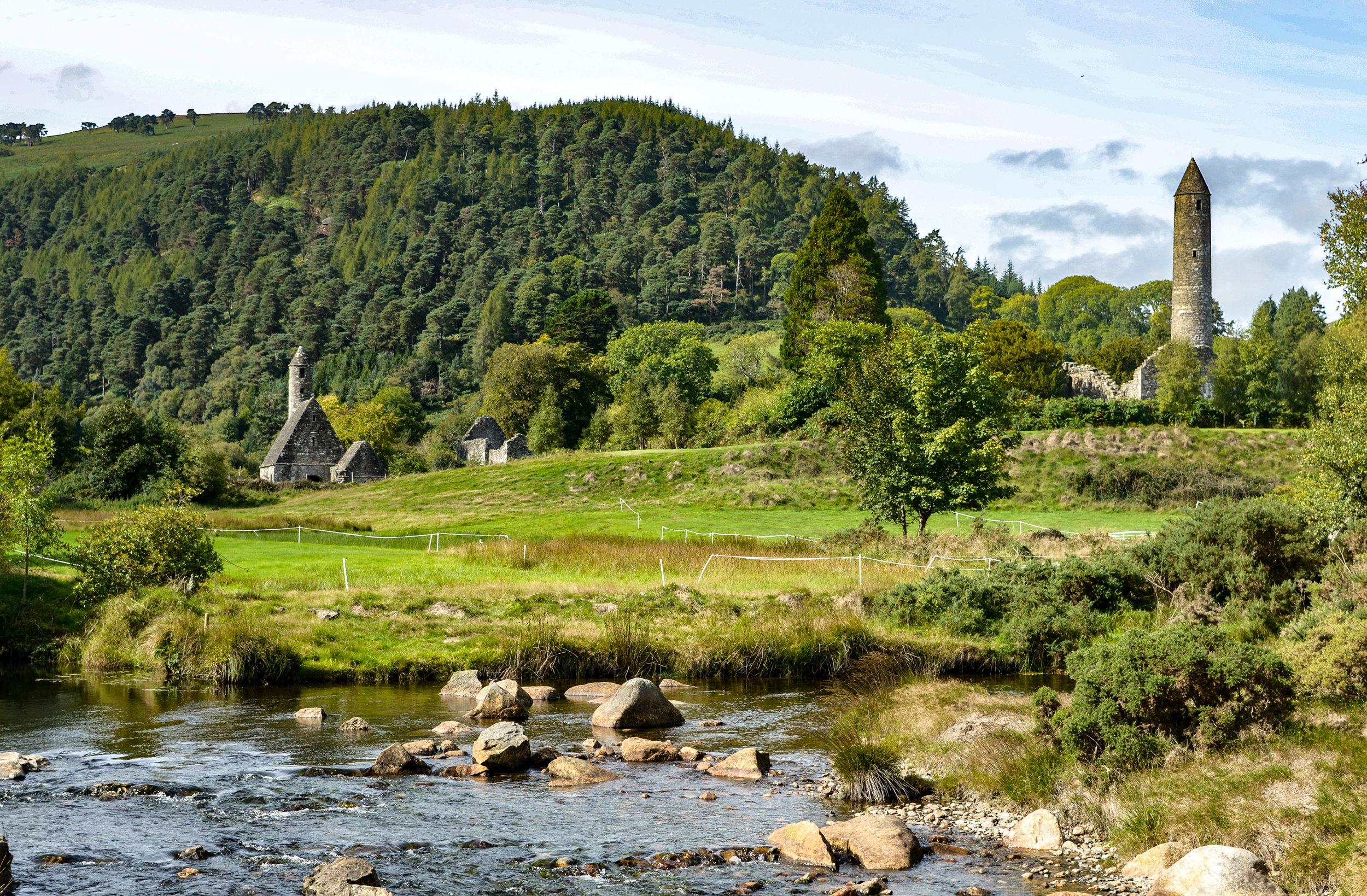 Glendalough & Wicklow mountains - Wander an hour outside Dublin's Georgian architecture, brightly painted brownstone doors, college student filled city streets, and find the other worldly landscapes of Game of Thrones, Princess Bride, and King Arthur.