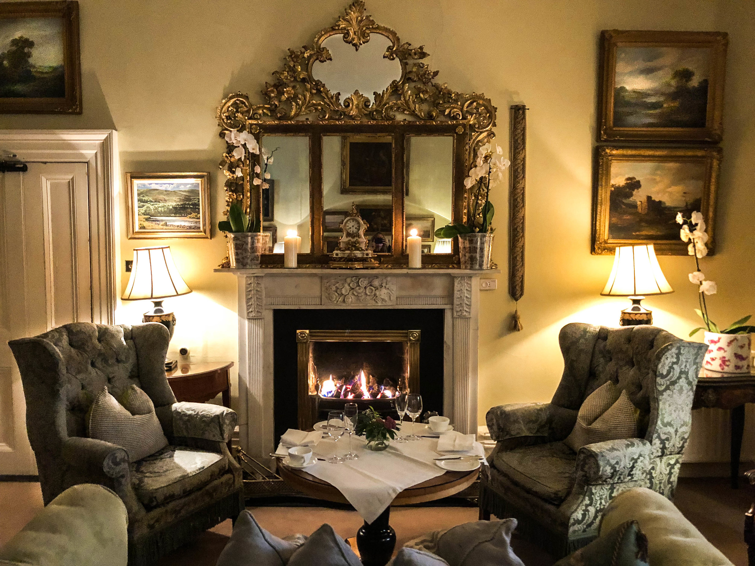 Afternoon Tea - Reserve a seat in the main house parlor for a relaxed and gracious afternoon tea in front of a warming fire. The perfect place to read a book and enjoy the elegant surroundings.