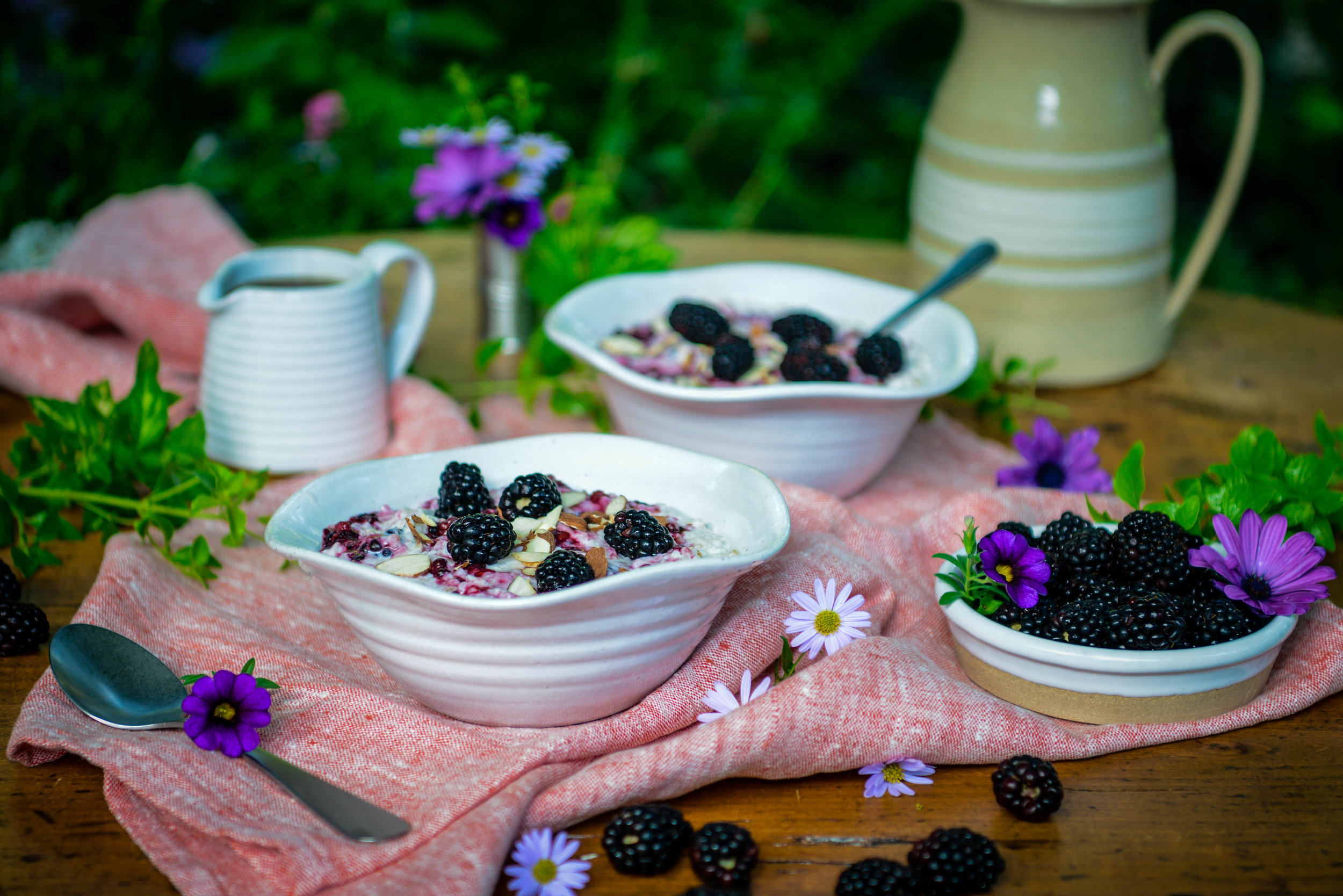 - With a deep purple color often associated with luxury, nobility, power, and magic, the blackberry is rich in antioxidants, medicinal properties, and a glorious bursting wild juiciness. Unlike other summer berries, the blackberry retains its firm texture when cooked. Biting into a spoonful of this creamy risotto is an unexpected hedonistic breakfast experience. Indulgent for sure, healthy, and visually gorgeous, this preparation is perfect for breakfast in bed for someone special or for a lazy Sunday morning in the garden reading The New York Times.