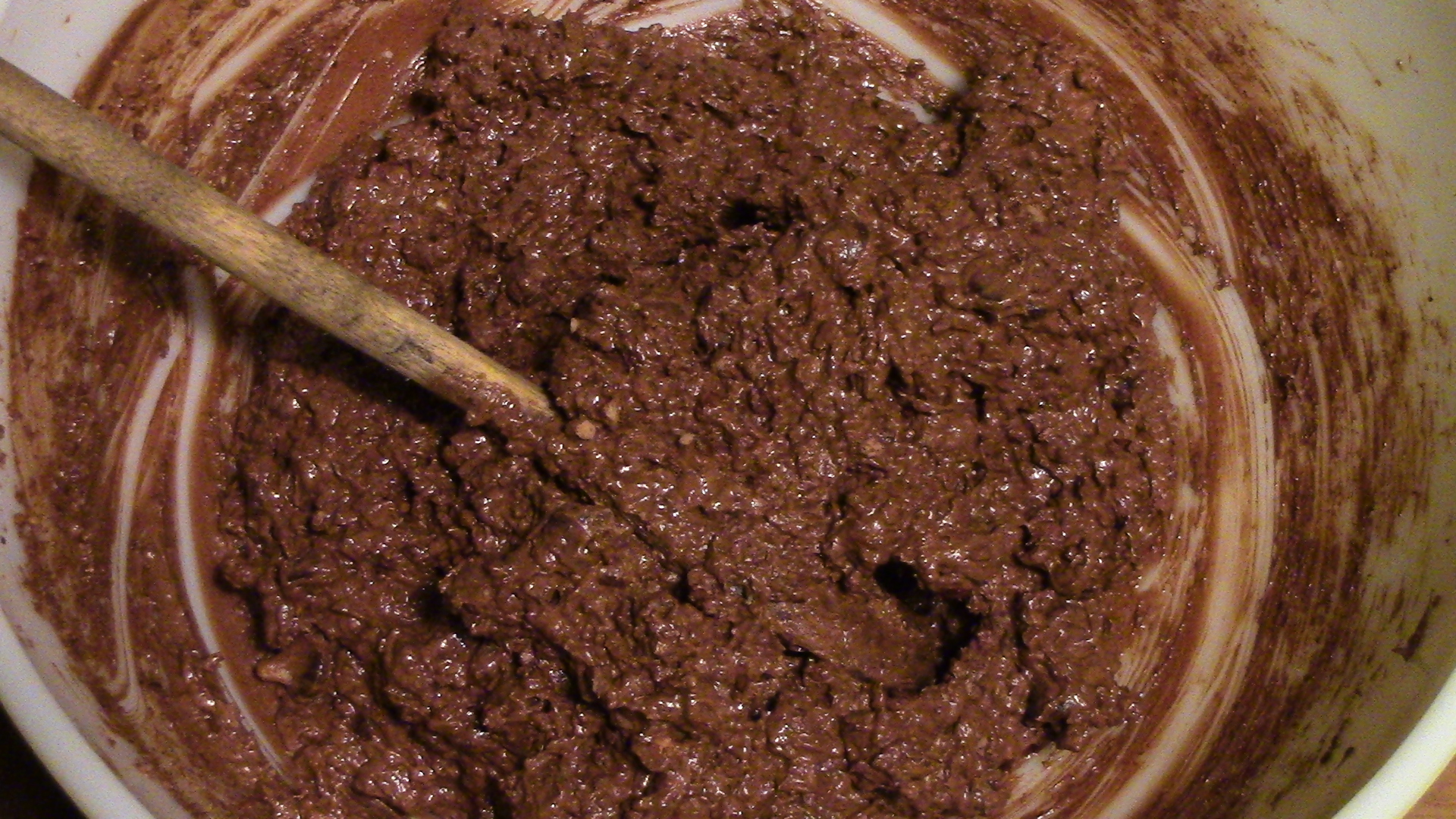 The cookie dough, well mixed and ready for scooping onto the baking sheet.