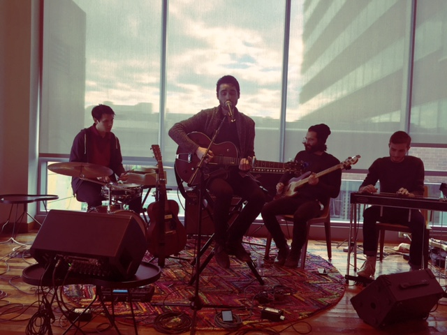 Oh Malô  performing for the Live Under the Dome Music series at Google Cambridge.