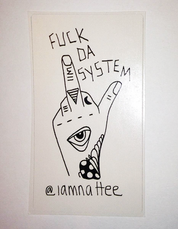 Fk da System sticker