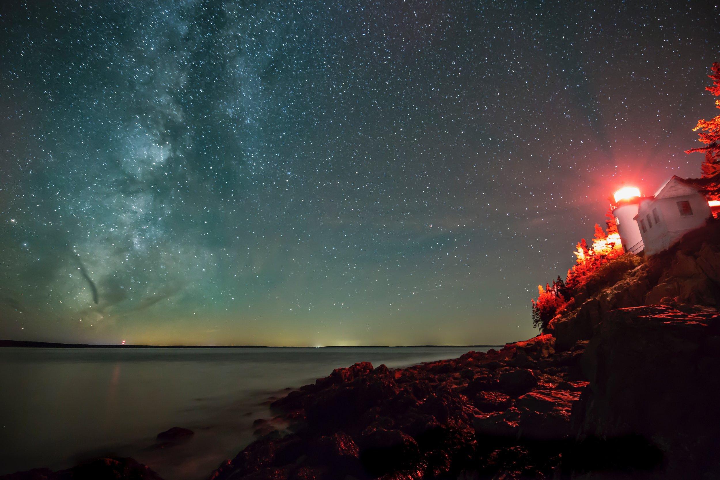 Night Shooting at Bass Harbor Lighthouse.