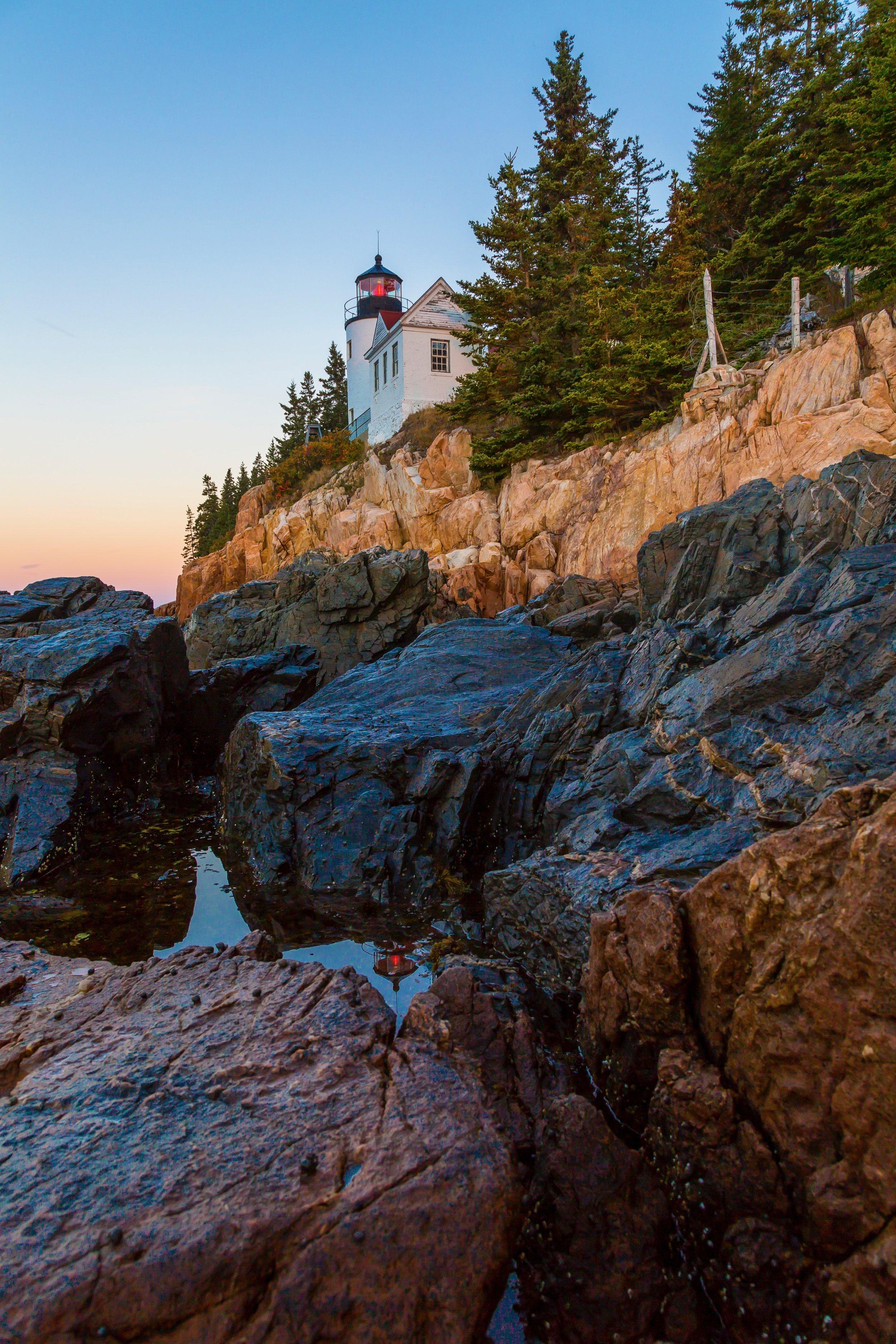 Bass Harbor Lighthouse Sunrise.
