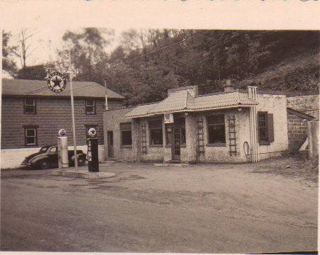 From the 1940s on, the art center building was a gas station on the main street of Rockdale.