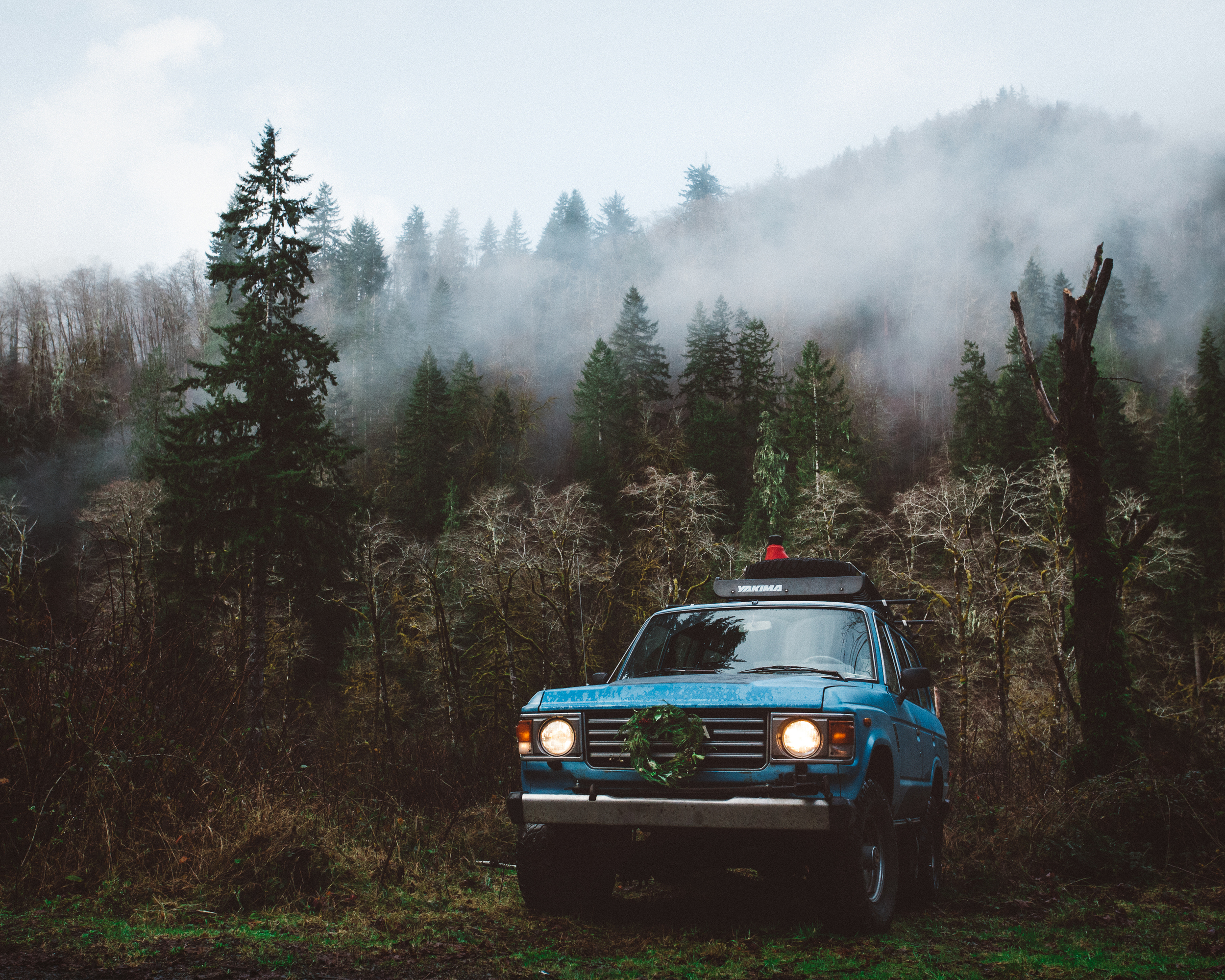 Exploring Oregon on Christmas. Tillamook county.