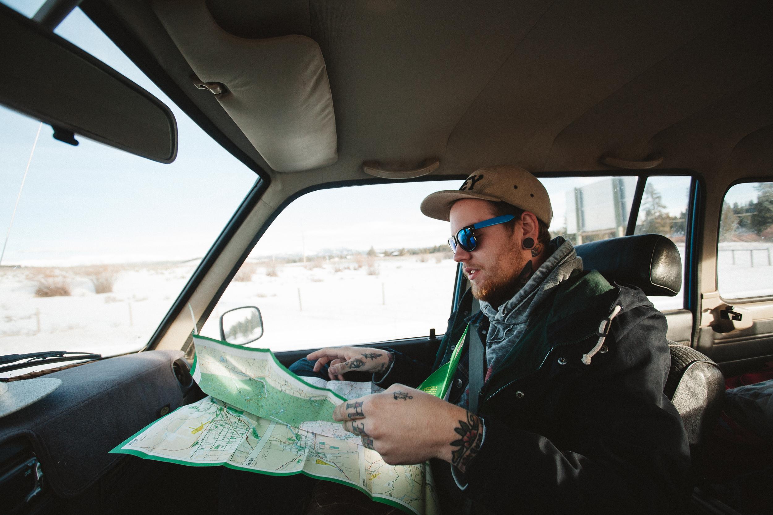Looking at new land, Montana.