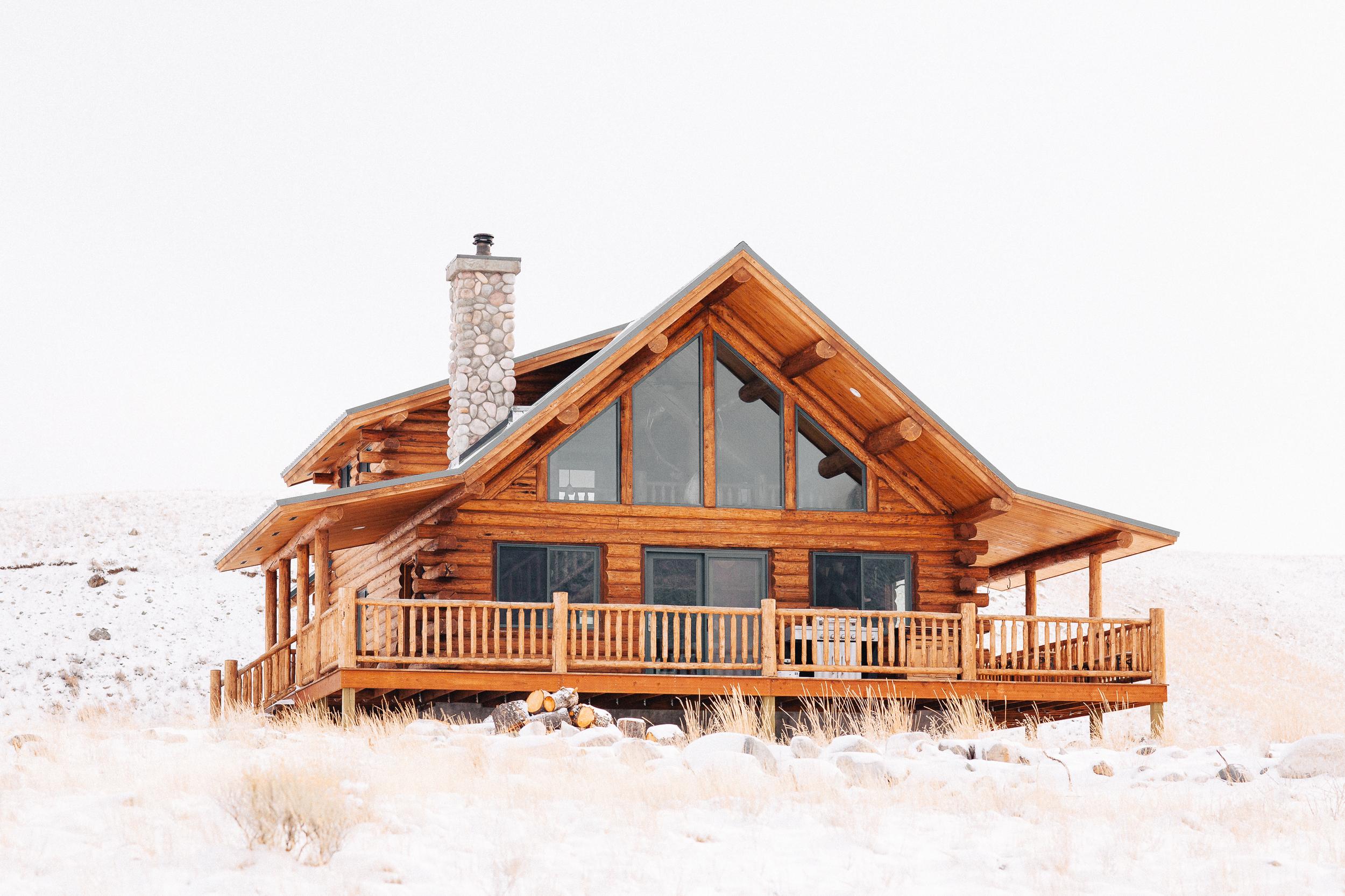 The Montana cabin.