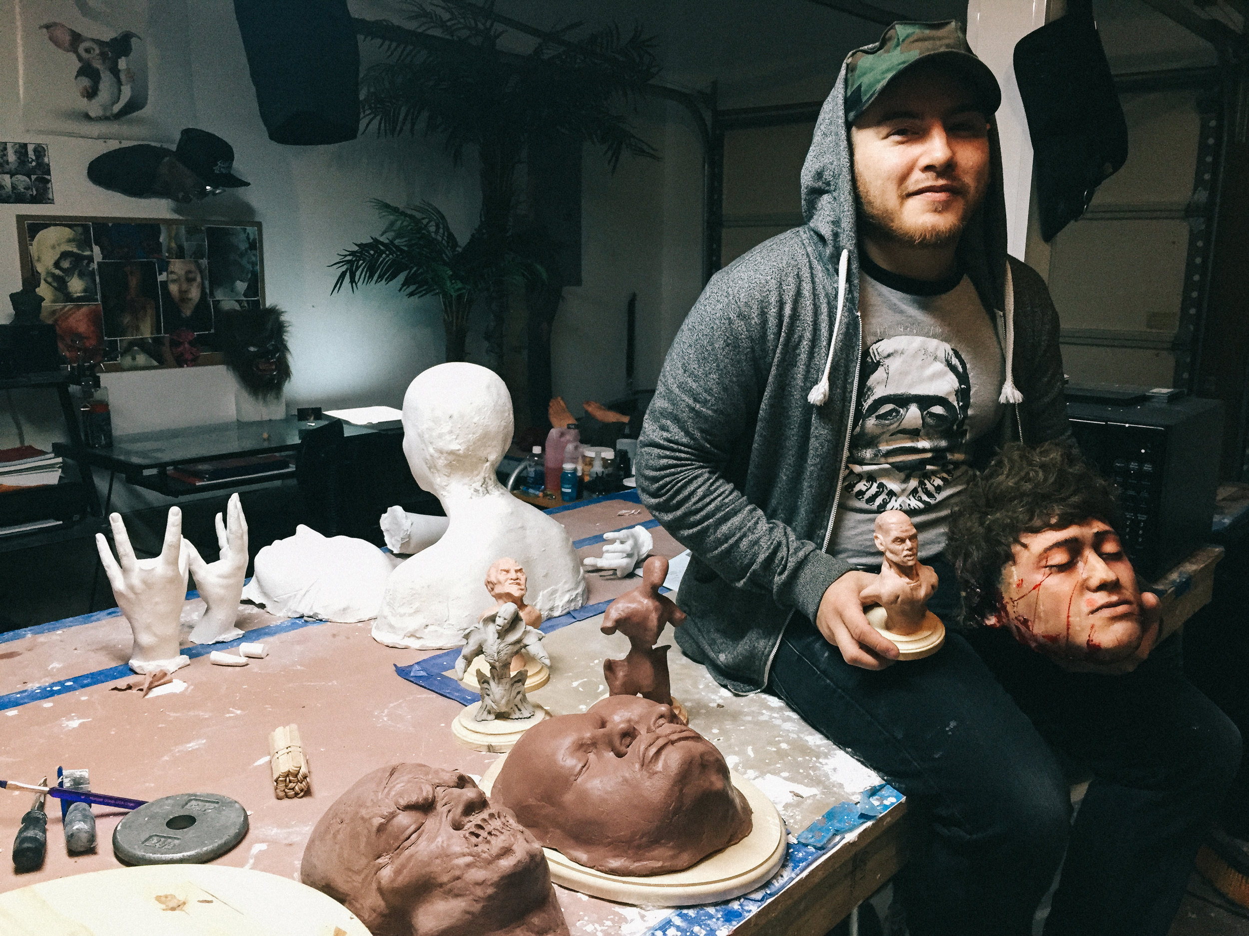 Erik's studio.