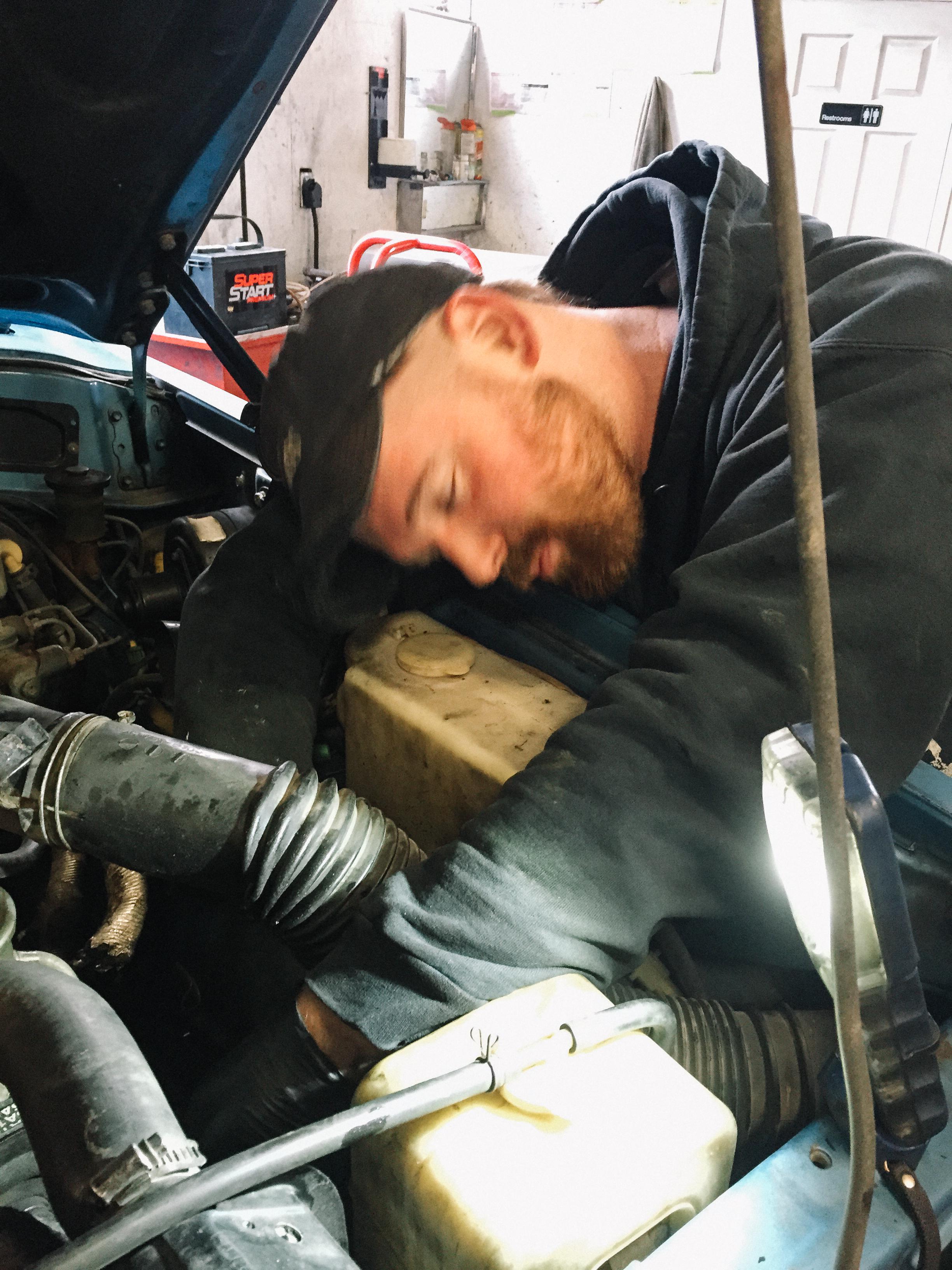 Josh hard at work.