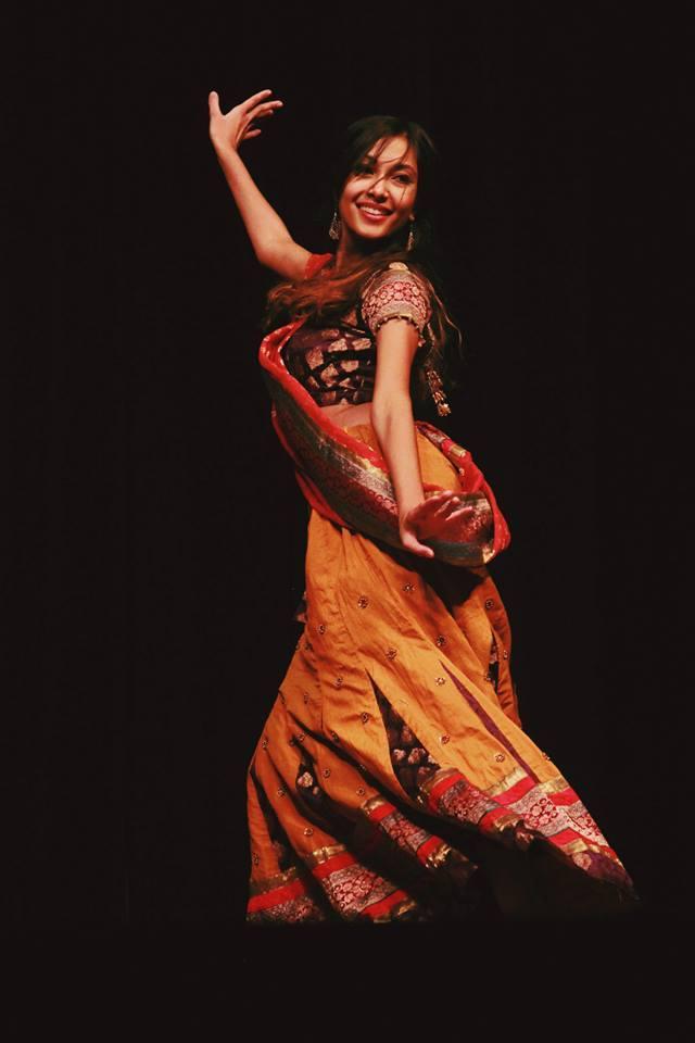 Ramya Kondaveeti performing her routine at Jalsa 2013.