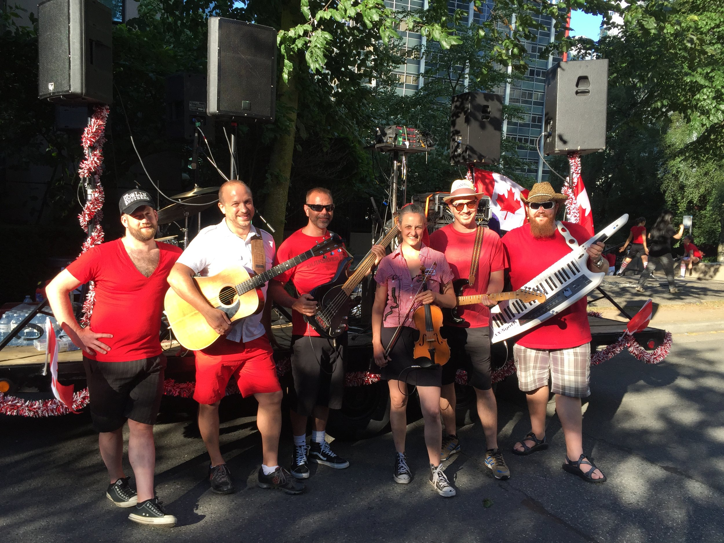 Canada Day Music team